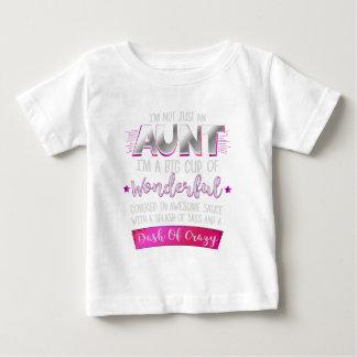Camiseta Para Bebê Eu não sou apenas uma tia Engraçado Citação