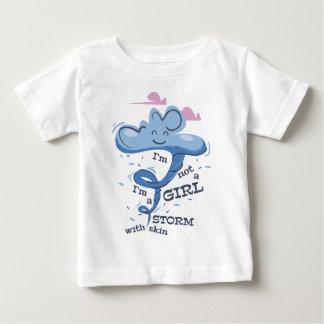 Camiseta Para Bebê Eu não sou menina que eu sou a tempestade