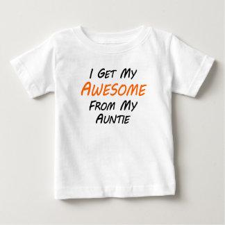 Camiseta Para Bebê Eu obtenho meu impressionante de meu Auntie