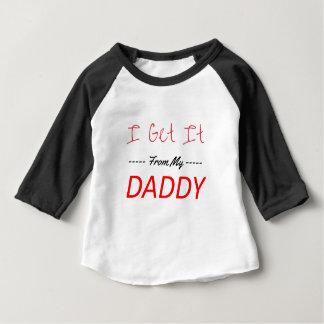 Camiseta Para Bebê Eu obtenho-o