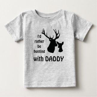 Camiseta Para Bebê Eu preferencialmente estaria caçando com o tio do