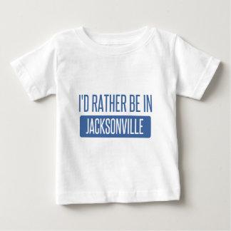 Camiseta Para Bebê Eu preferencialmente estaria em Jacksonville FL