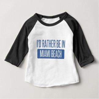 Camiseta Para Bebê Eu preferencialmente estaria em Miami Beach