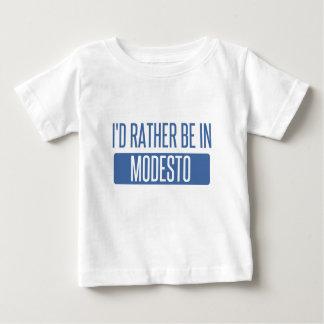 Camiseta Para Bebê Eu preferencialmente estaria em Modesto