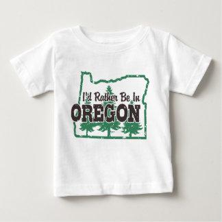Camiseta Para Bebê Eu preferencialmente estaria em Oregon