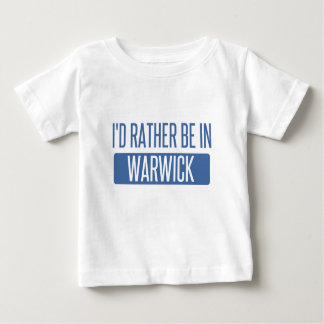 Camiseta Para Bebê Eu preferencialmente estaria em Warwick
