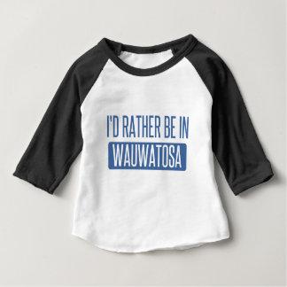 Camiseta Para Bebê Eu preferencialmente estaria em Wauwatosa