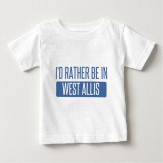 Camiseta Para Bebê Eu preferencialmente estaria em West Allis