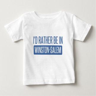 Camiseta Para Bebê Eu preferencialmente estaria em Winston-Salem