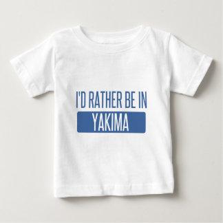 Camiseta Para Bebê Eu preferencialmente estaria em Yakima