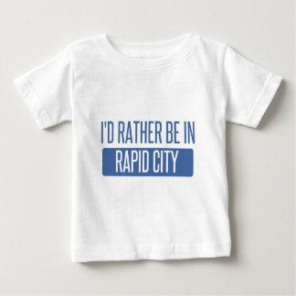 Camiseta Para Bebê Eu preferencialmente estaria na cidade rápida