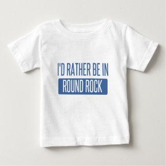 Camiseta Para Bebê Eu preferencialmente estaria na rocha redonda