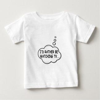 Camiseta Para Bebê Eu preferencialmente estaria olhando a tevê