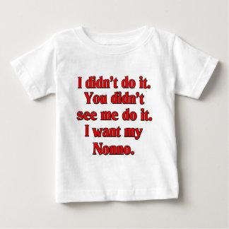 Camiseta Para Bebê Eu quero meu nonno (avô italiano).