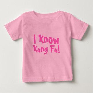 Camiseta Para Bebê Eu sei, Kung Fu!