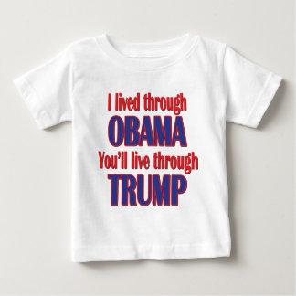 Camiseta Para Bebê Eu sobrevivi a Obama