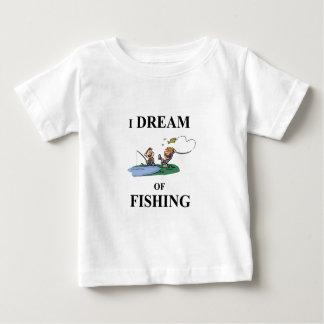 Camiseta Para Bebê Eu sonho da pesca