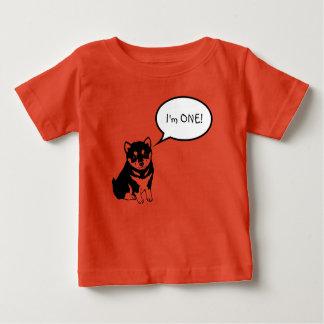 Camiseta Para Bebê Eu sou 1 T do bebê da laranja da bolha 2 do