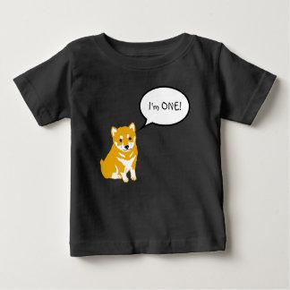 Camiseta Para Bebê Eu sou 1 T preto do bebê da bolha 2 do discurso de