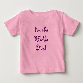 Camiseta Para Bebê Eu sou a diva REAL!