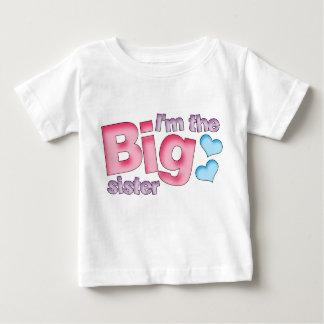 Camiseta Para Bebê Eu sou a irmã mais velha