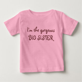 Camiseta Para Bebê Eu sou a IRMÃ MAIS VELHA lindo