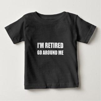 Camiseta Para Bebê Eu sou aposentado circundo-me branco engraçado