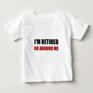 Camiseta Para Bebê Eu sou aposentado circundo-me engraçado