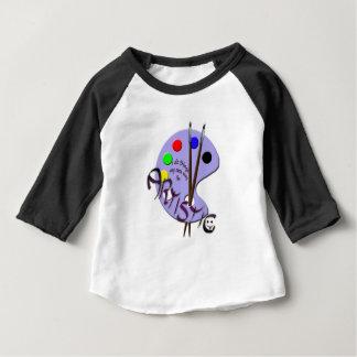 Camiseta Para Bebê Eu sou artístico