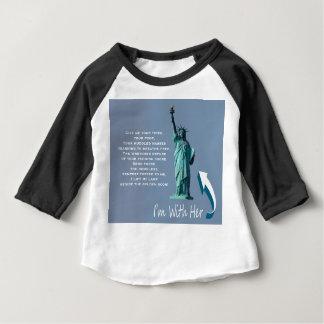 Camiseta Para Bebê Eu sou com ela!