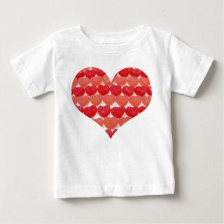 Camiseta Para Bebê Eu sou corações pequenos de uns doces do Sweety