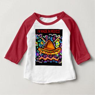 Camiseta Para Bebê Eu SOU FEITO EM MÉXICO