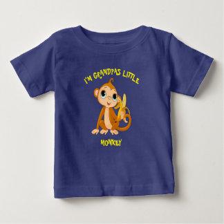 Camiseta Para Bebê Eu sou macaco pequeno dos vovôs