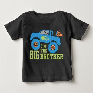 Camiseta Para Bebê Eu sou o monster truck do big brother