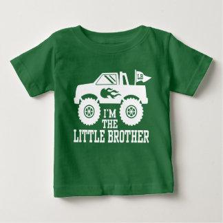 Camiseta Para Bebê Eu sou o monster truck do irmão mais novo
