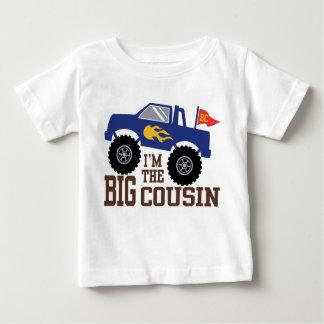 Camiseta Para Bebê Eu sou o monster truck grande do primo