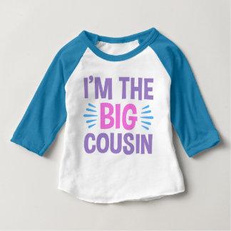 Camiseta Para Bebê Eu sou o primo grande