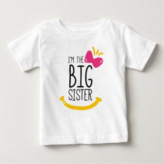 Camiseta Para Bebê Eu sou o t-shirt da irmã mais velha