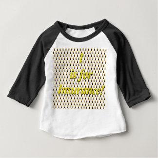 Camiseta Para Bebê Eu sou para o t-shirt do Raglan do seguro