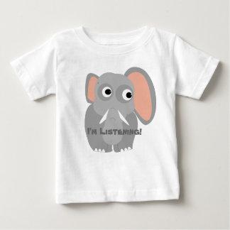 Camiseta Para Bebê Eu sou t-shirt de escuta