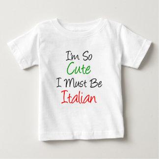 Camiseta Para Bebê Eu sou tão bonito eu devo ser italiano