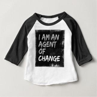 Camiseta Para Bebê Eu sou um agente da mudança