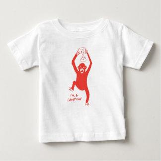 Camiseta Para Bebê Eu sou um Chimpion!