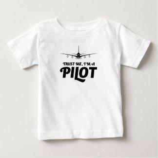 Camiseta Para Bebê Eu sou um piloto