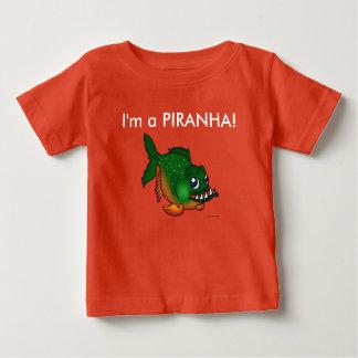 Camiseta Para Bebê Eu sou um t-shirt dos miúdos do piranha