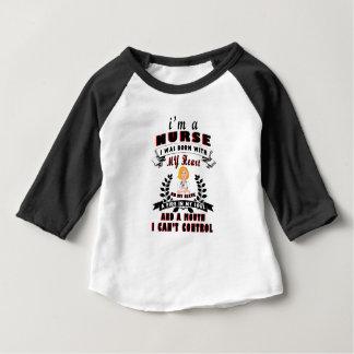 Camiseta Para Bebê Eu sou uma enfermeira que eu era nascido com um