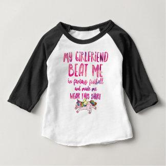 Camiseta Para Bebê Eu sugo em T-S unisex da Curto-Luva do futebol da