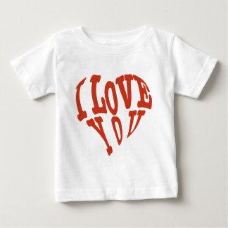 Camiseta Para Bebê Eu te amo coração