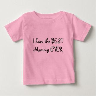 Camiseta Para Bebê Eu tenho as MELHORES mamães NUNCA