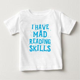 Camiseta Para Bebê eu tenho habilidades de leitura loucas